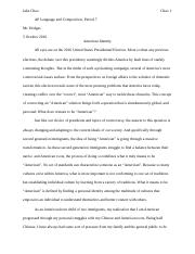 just walk on by essay jake chao chao mr hodges ap language and  6 pages narrative final draft