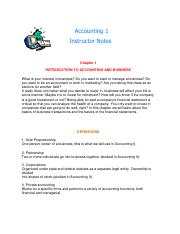 Read Chapter 1 Instructor Notes-1
