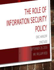 E-Harlow_Individual The Role of Information Security Policy.pptx