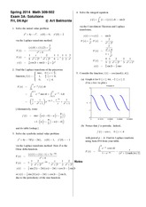 Exam 3 Version A on Differential Equations