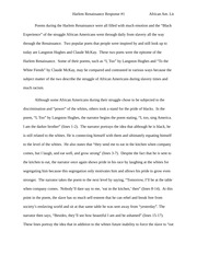 Compare And Contrast Essay About High School And College African American Literature Essays Process Essay Example Paper also Persuasive Essay Sample Paper African American Literature Study Resources Persuasive Essay Example High School