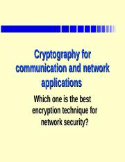 FIT5037_RSA_reference ppt - Cryptography for communication