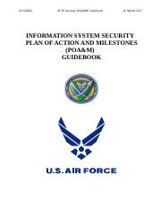 Information System Security Plan Of Action And Milestones POAM Guidebookdoc