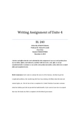 Writing Assignment of Unite 4