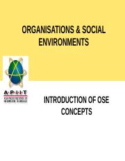 2. Introduction of OSE Concepts