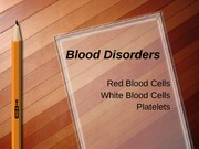DIAG 2735 Blood Disorders