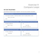 Exercise 9 - Loop Comparisons.docx