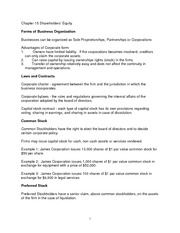 Financial Management - Chapter 15 notes