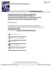 ROUTLDGE_Europeanization through the Grapevine Communication Gaps and the Role of International Orga