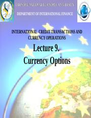 9. Currency options