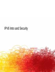Lecture IPV6