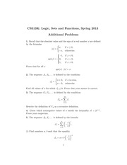 Additional Problems, Test Two