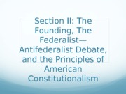 Am Gov Powerpoint 2 Founding and Constitution