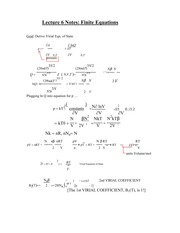 Lecture 6 Notes Finite Equations