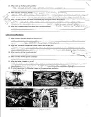 WOR HIST - Latin American Revolution Notes