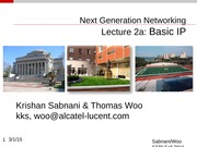 Lecture-2a Basic IP