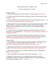 Acts Study Guide Exam 3