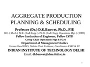 Aggregate Production Planning-Scheduling -Prof-DKB
