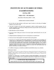 (www.entrance-exam.net)-Institute of Actuaries of India-Subject SA2- Life Insurance Sample Paper 5.p