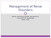 Management of Renal Disorders S 14-2