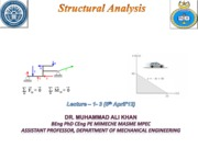 Structural analysis  (Lectures 1-5)