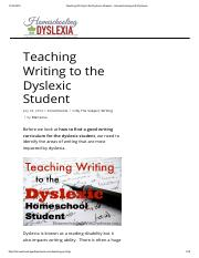 Teaching Writing to the Dyslexic Student - Homeschooling with Dyslexia.pdf