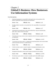 Chapter 05 Business Processes and MIS - Student