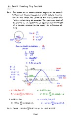 Part 3 Modelling Trig Functions