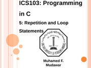 133ICS103_05_RepetitionAndLoopStatements