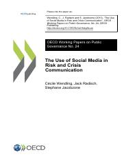 The Use of Social Media in Risk and Crisis Communication