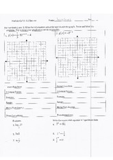 PreCalc Chapter 3 Review Worksheet