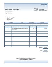 Boot Camp pdf invoice