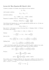 Lecture 22 on Wave Equation III