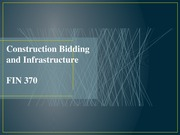 Construction Bidding and Infrastructure (3)