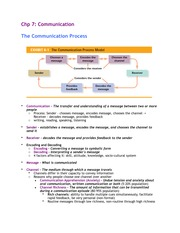 Chapter 7 - Communication