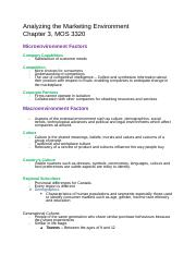 Chapter 3 Analyzing the Marketing Environment.docx
