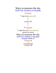Ways to measure the sky