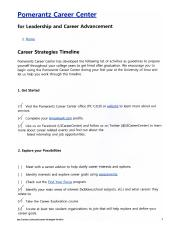 Career Strategies Timeline_#1