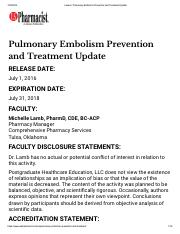 2016 Pulmonary Embolism Prevention and Treatment Update.pdf