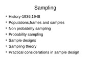 PAD 5701 Summer 2015  Sampling