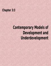 Chapter 3-3 Contemporary Development Models.ppt