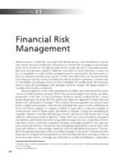 Chapter 11   Financial Risk Management