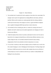 Chapter 10 - Ethical Dilemma