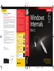 Windows Internals 6th Edition, Part 1 (2012)
