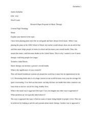 term paper on music therapy