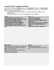 swot analysis worksheet