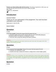 ENG101 Lesson 2 Required Practice your thesis Quiz ungraded