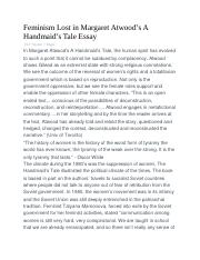 How To Write A Thesis For A Narrative Essay  Pages Feminism Lost In Margaret Atwooddocx Sample Narrative Essay High School also High School Essay Samples  Handmaids Tale Intropptpptx  The Handmaids Tale By Margaret  High School Argumentative Essay Topics