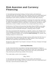 Risk Aversion and Currency Financing.docx
