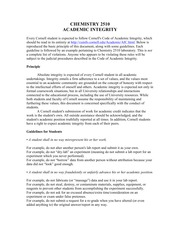 CHEMISTRY 2510 Academic Integrity F 2013